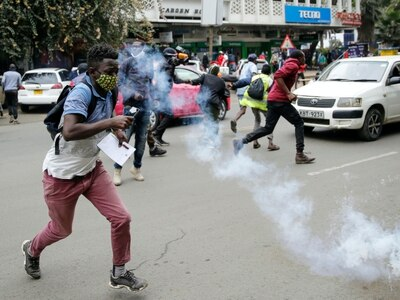 Tear gas fired and arrests made as Kenyans protest against police brutality