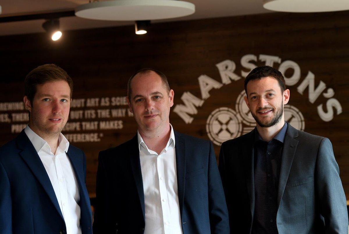 Chris White (energy manager), Andy Kershaw (head of group facilities and taverns projects) and Jon Davies (waste and recycling co-ordinator)