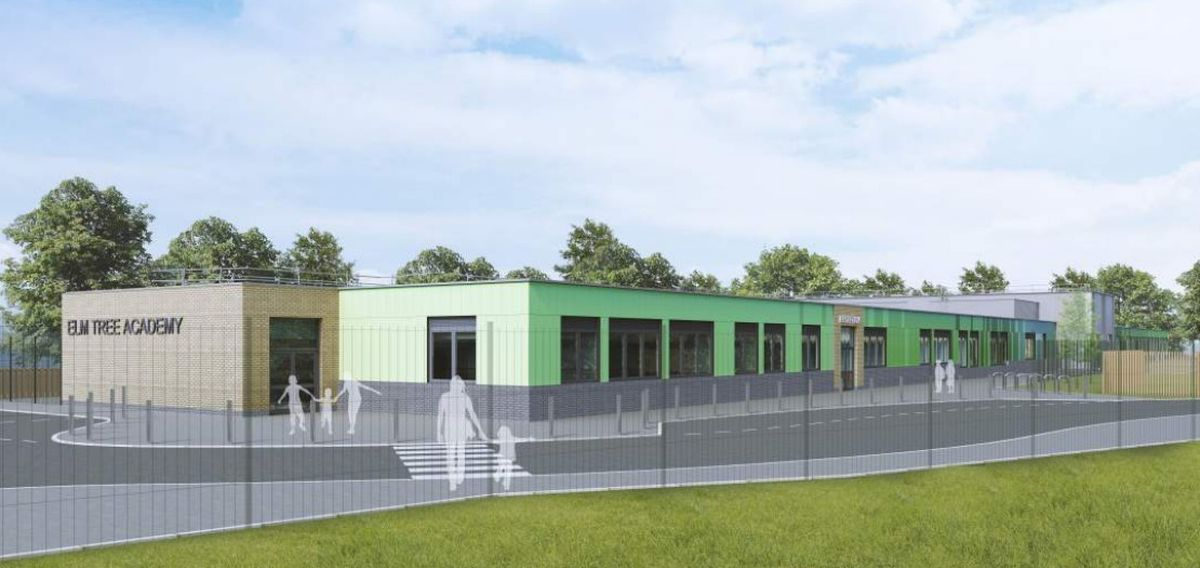 An artist's impression of the proposed Elm Tree Academy. Image: DLA Architecture