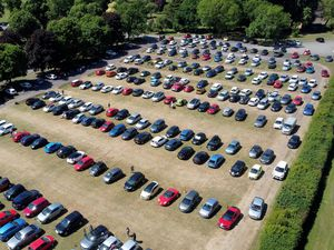 Dudley Council officials had to turn some visitors away after car parks quickly filled at Himley Park