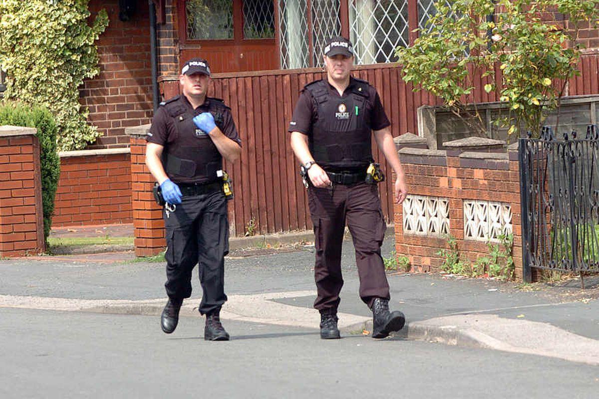 Police Officers in Coneygree Road.