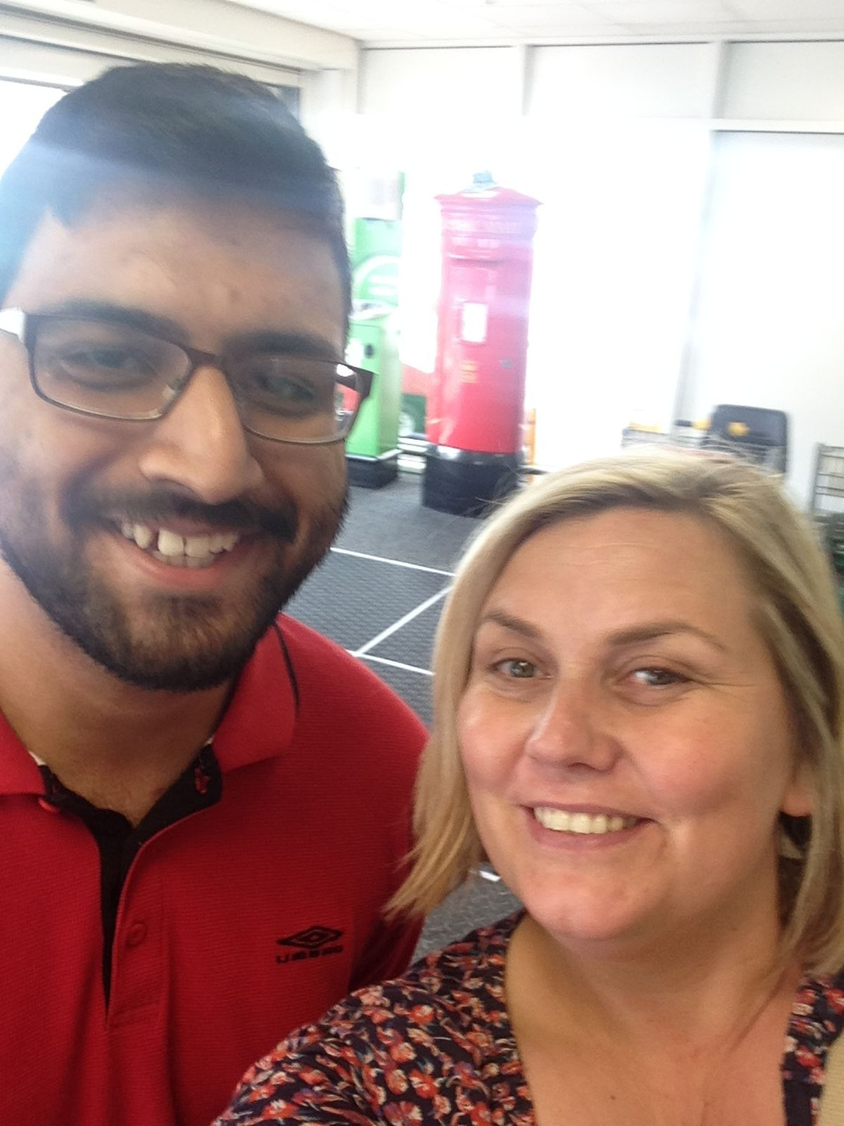 Lisa Potts when she bumped into Ahmed Malik in the supermarket, 20 years after she saved his life