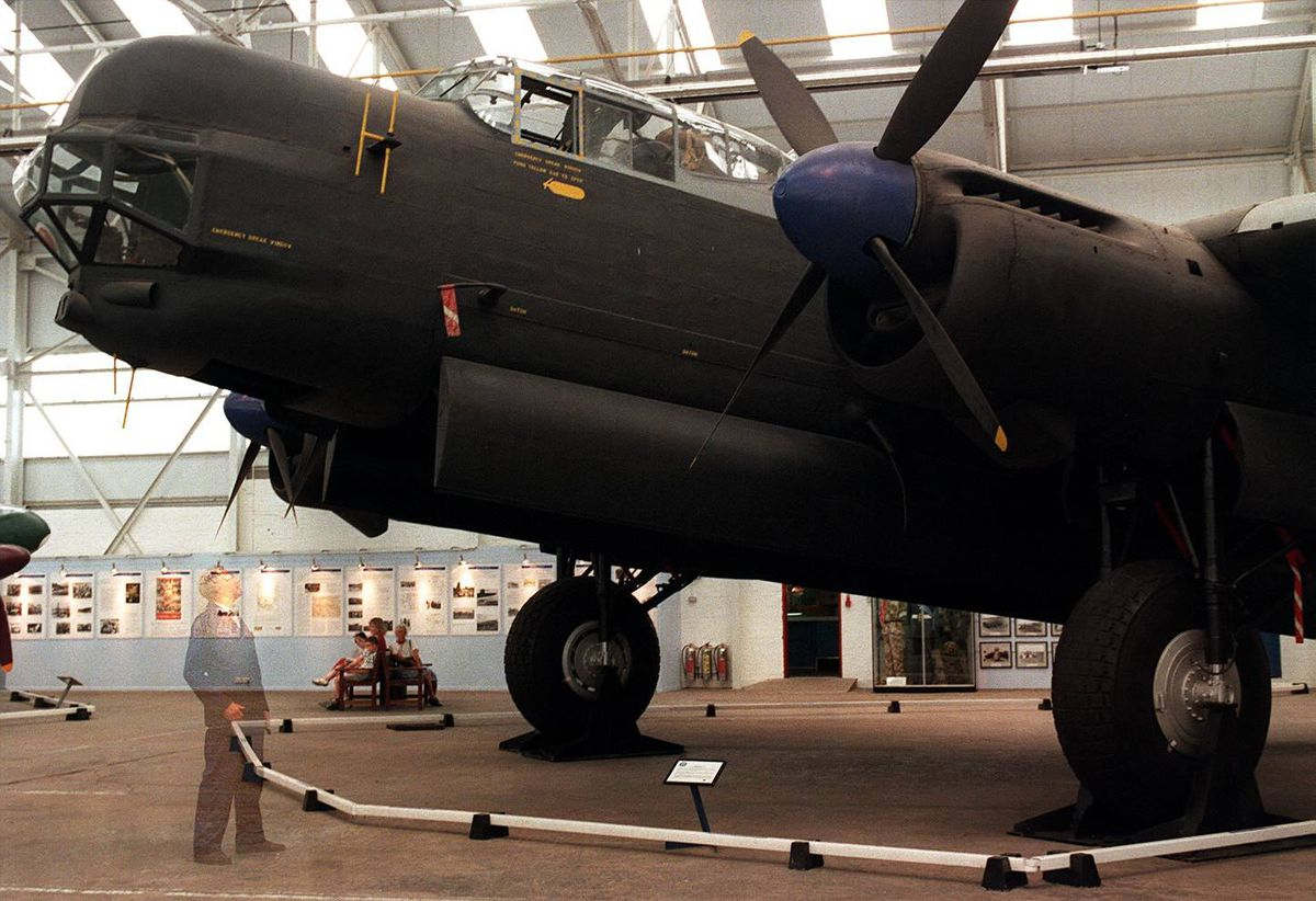 A ghostly figure admires the supposedly haunted Lincoln at Cosford.