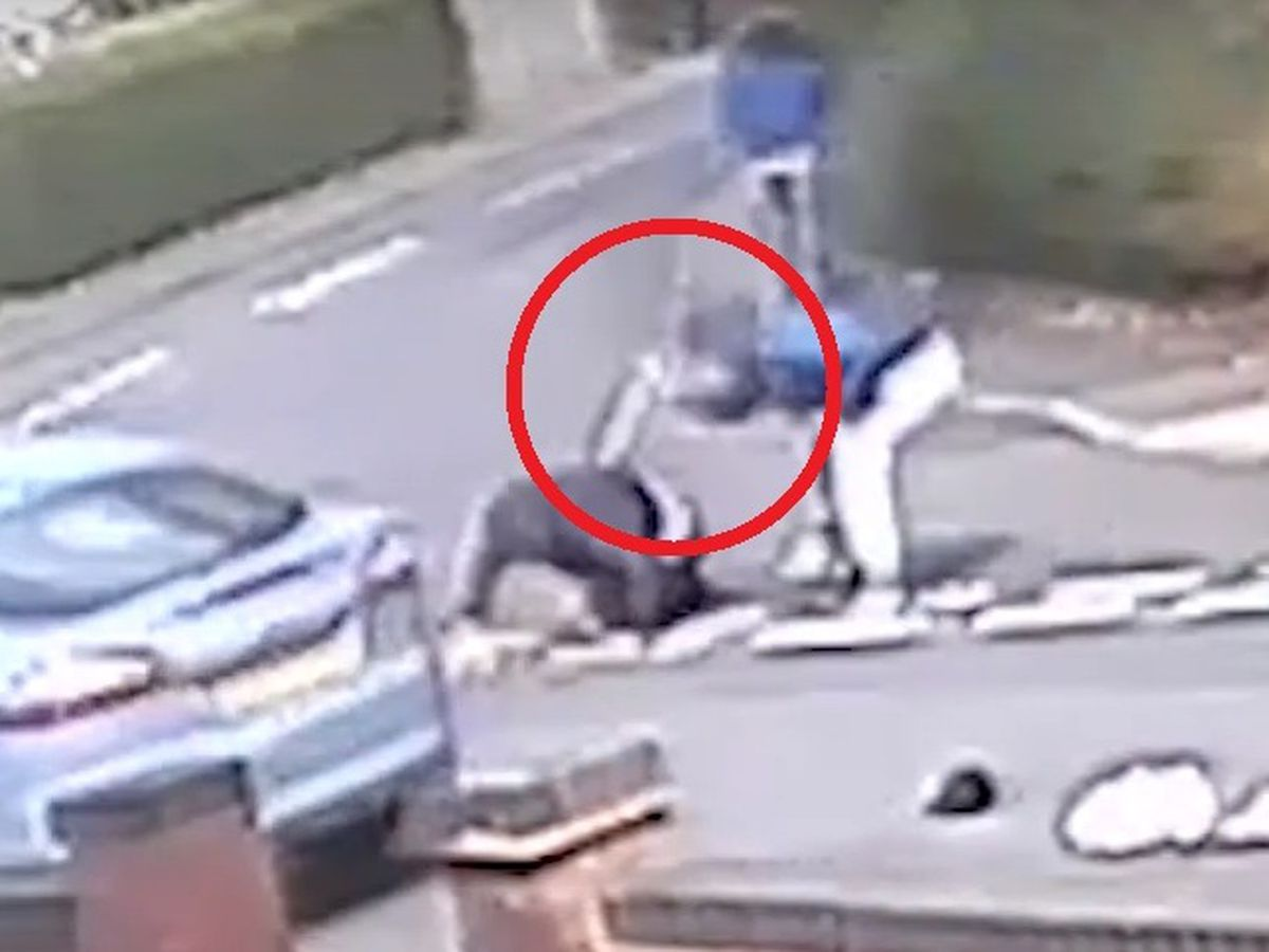 A still from a video of the knife attack in Wednesfield