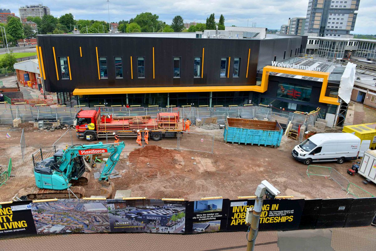 Demolition work at the the railway station in Wolverhampton is progressing well