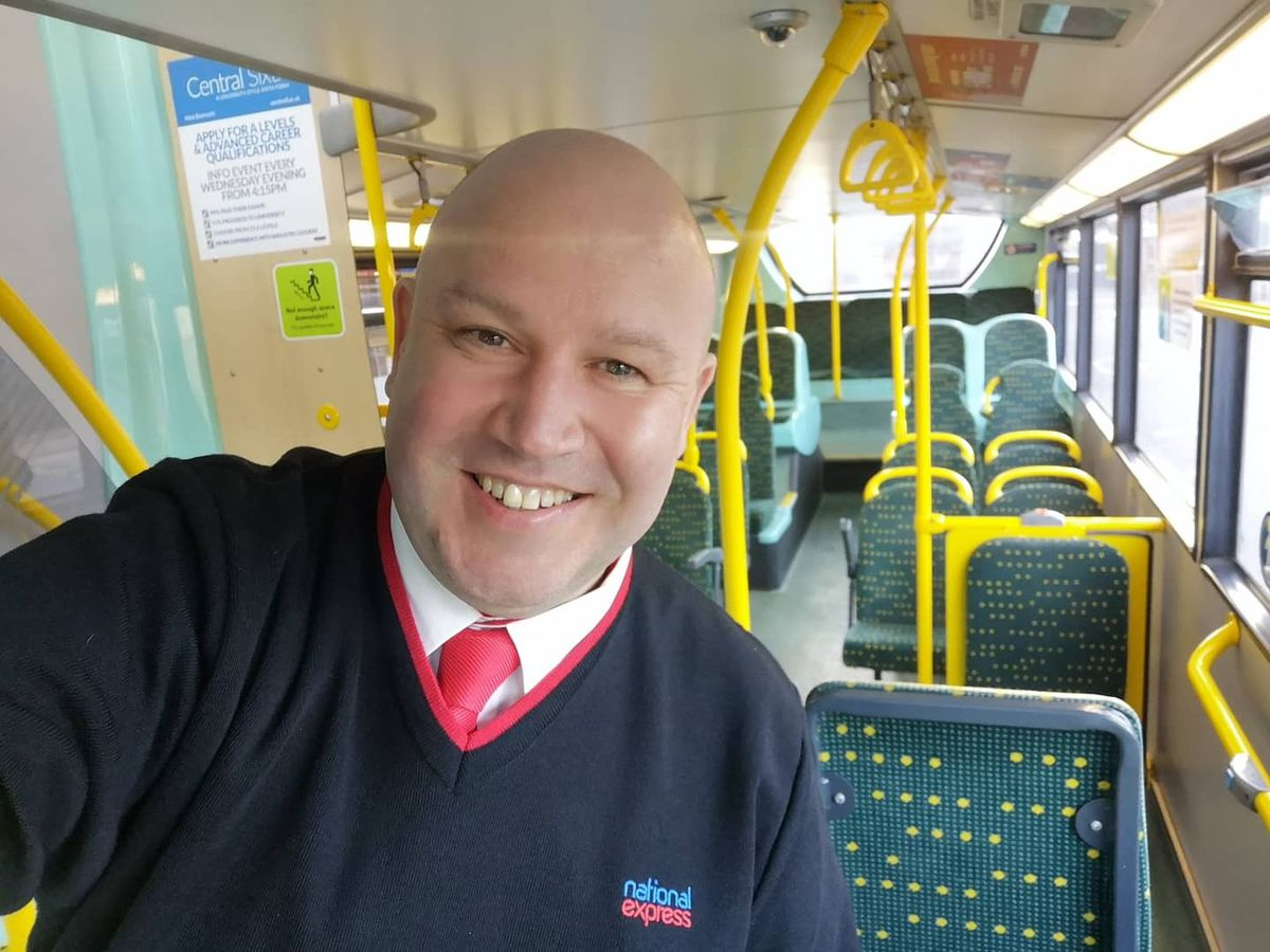 Dicky in is other role as a part-time bus driver