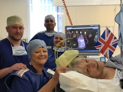 Great-gran watches royal wedding while having ankle surgery at Walsall Manor