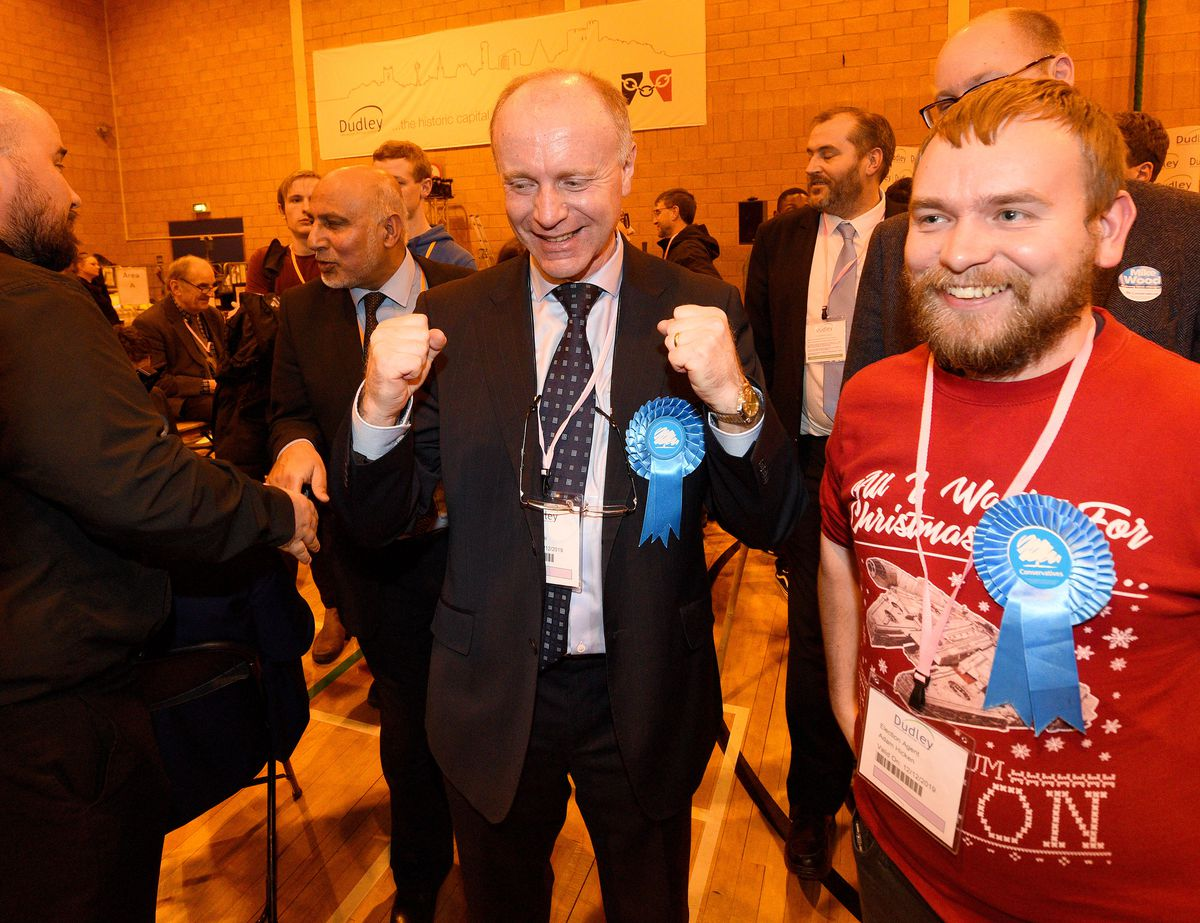 Celebrations for new Dudley North MP Marco Longhi