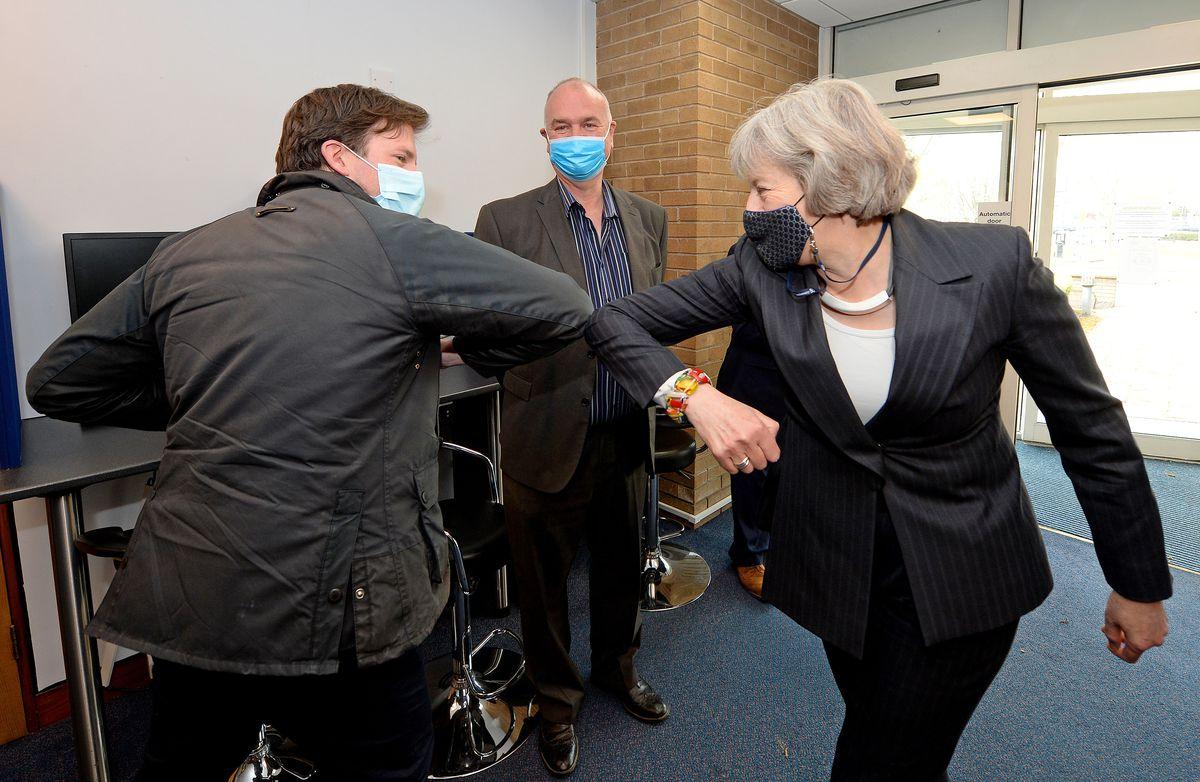 Theresa May visits Accord Housing, Walsall