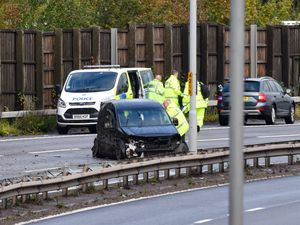 A man has been left seriously injured after a multi-vehicle crash on the M5 in the Black Country. Photo: SnapperSK