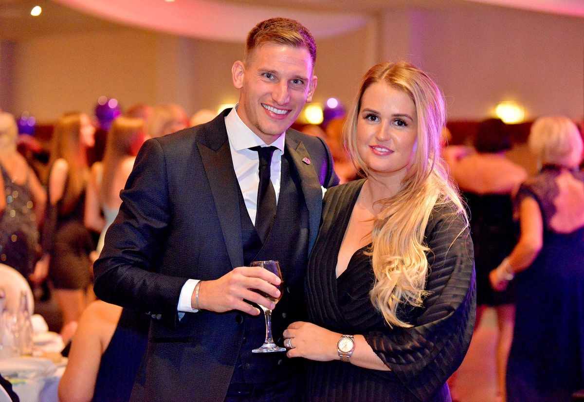 Leicester City footballer: Marc Albrighton and his wife Chloe. Chloe lost her mother Sue Davey in the Tunisia attacks