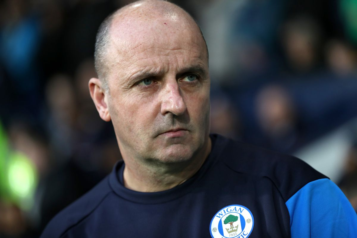 Paul Cook Manager / Head Coach of Wigan Athletic. (AMA)