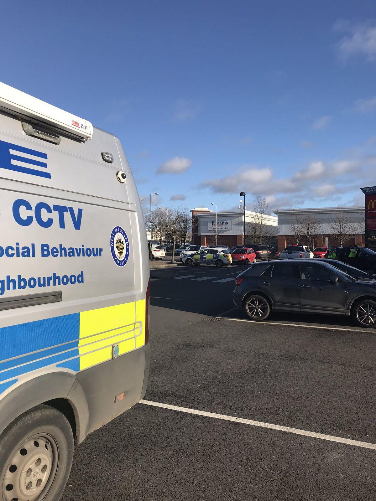 The scene. Photo: Wednesfield Police