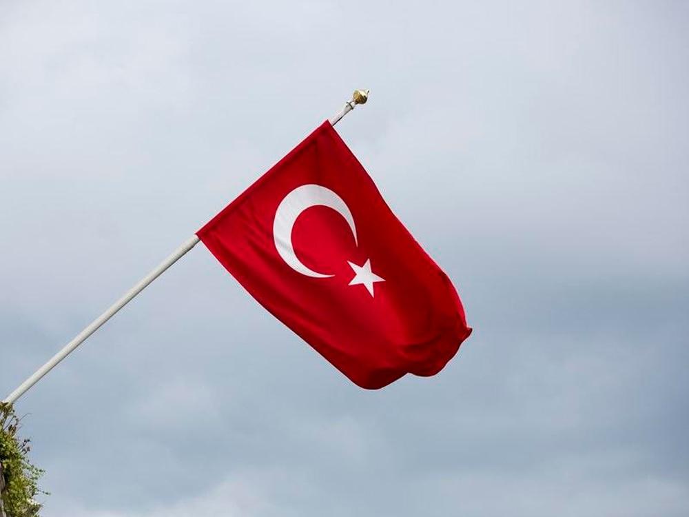 A Turkish flag