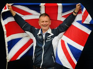 Blind Dave Heeley OBE in October last year