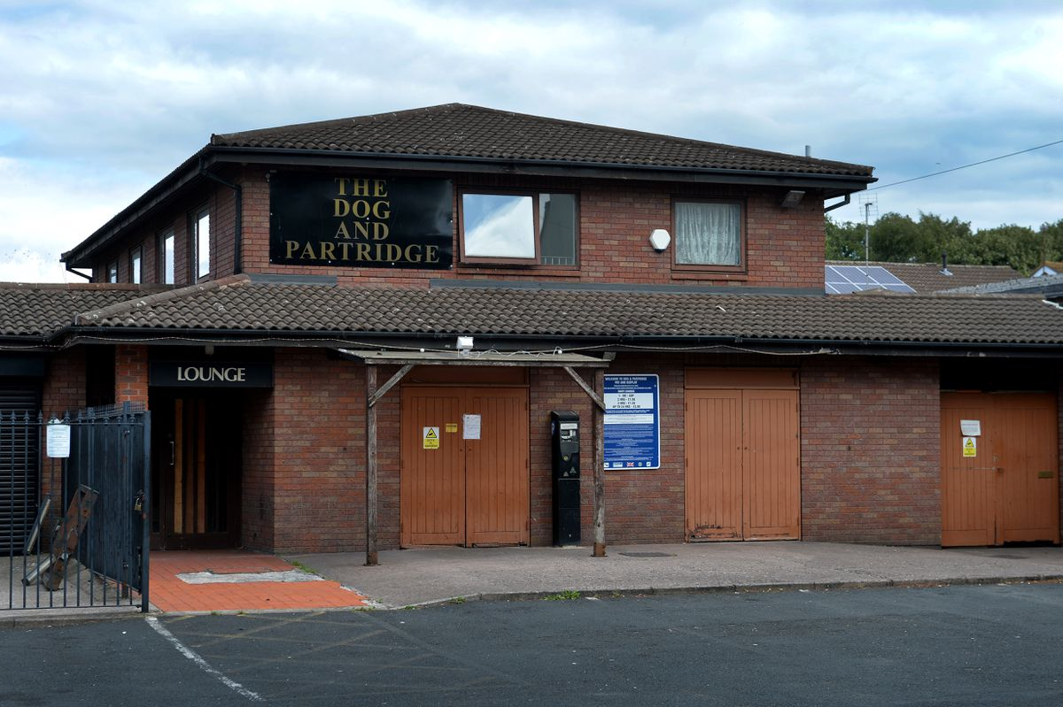 The violent brawl happened at the Dog and Partridge in Bilston