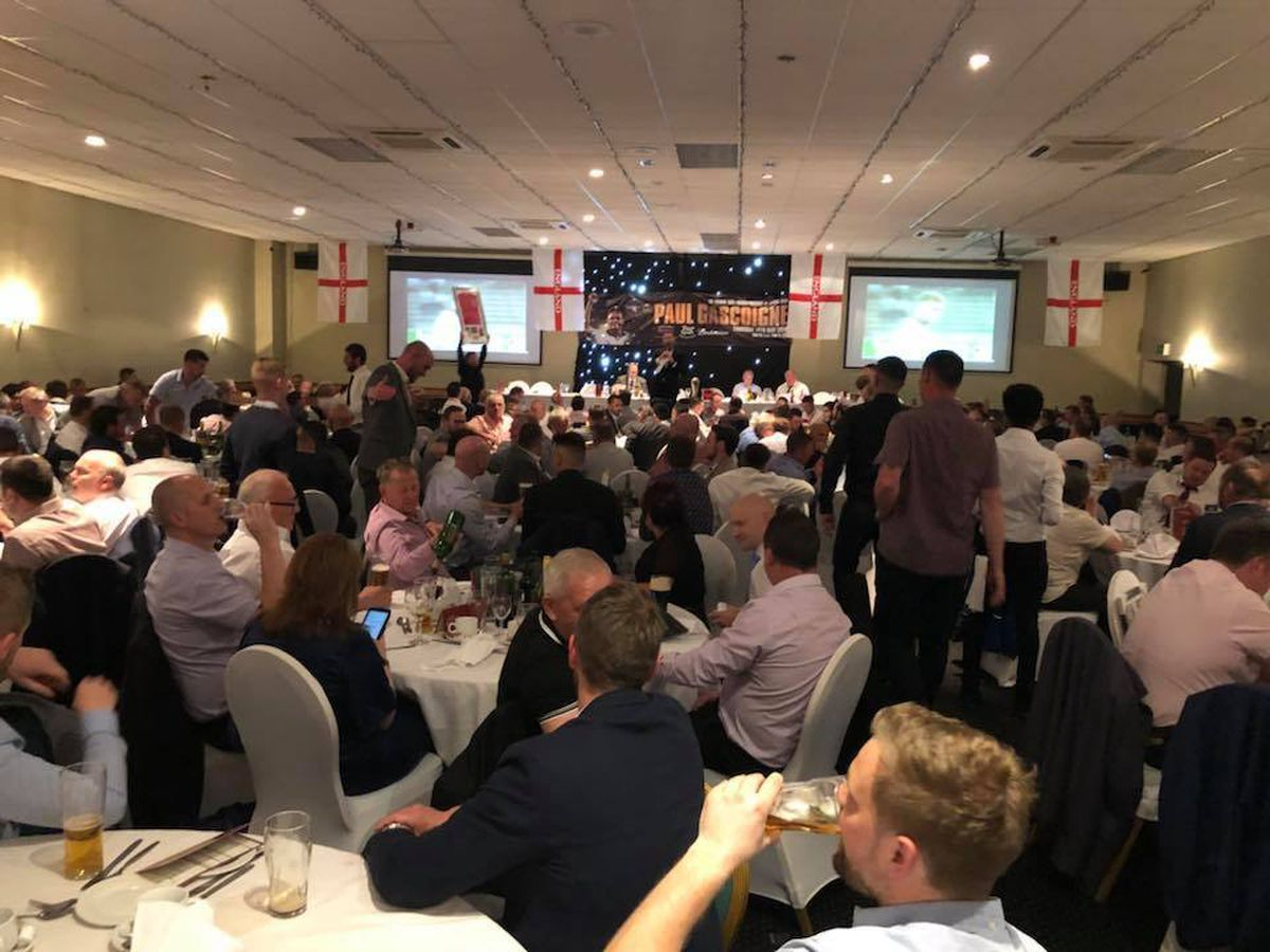The crowd at the Premier Suite in Cannock . Picture: Bar Sport