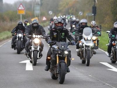 Motorbike convoy follows Harry Dunn's last ride
