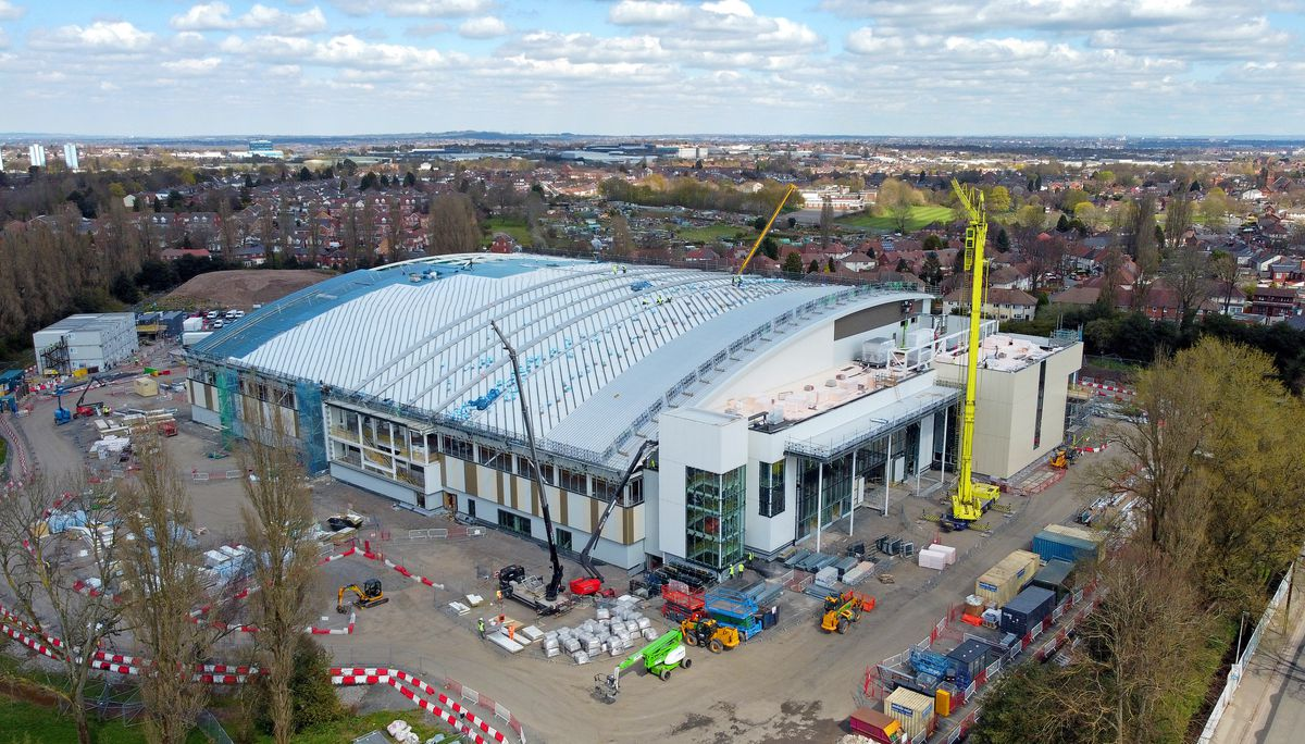 The Sandwell Aquatics Centre, Smethwick, is taking shape