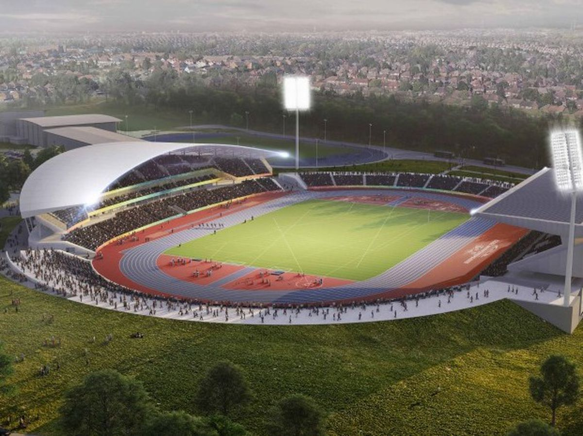 A CGI image of what the Alexander Stadium could look like after the Commonwealth Games. Photo: Birmingham City Council
