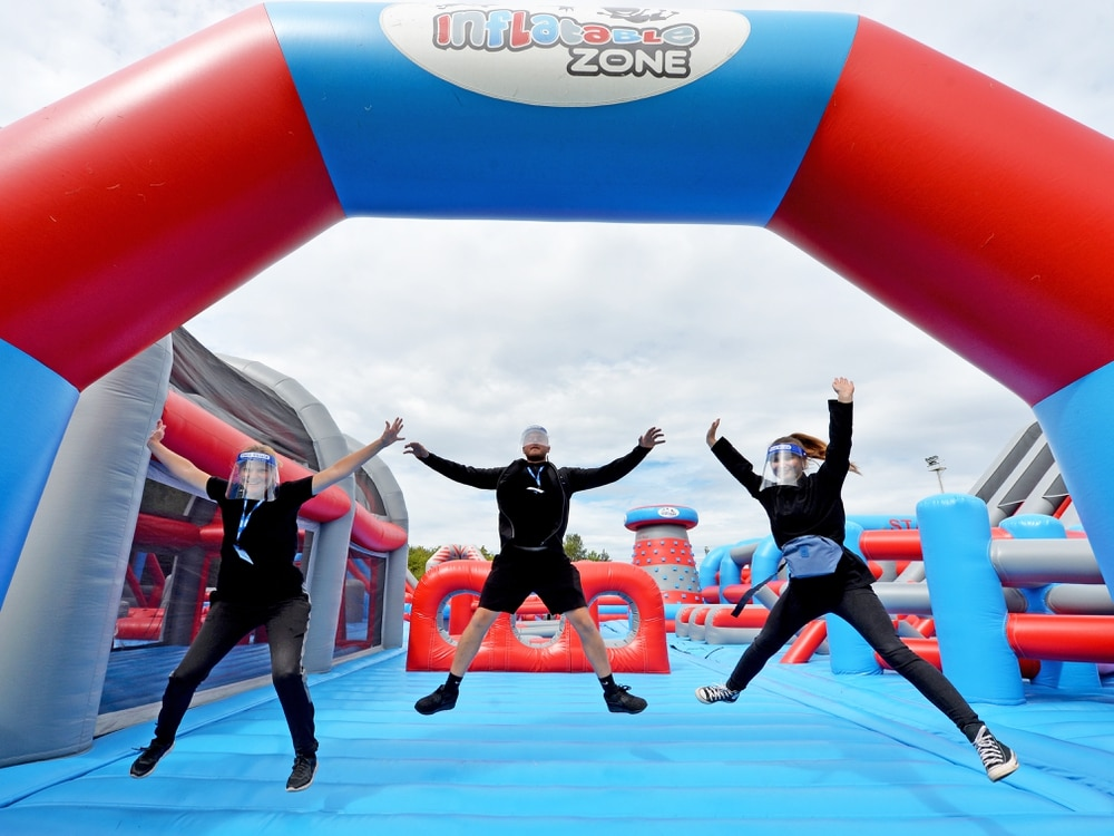 30 000 Sq Ft Inflatable Park Opens At Nigel Quashie S Soccer Zone Express Star