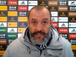 Wolves head coach Nuno Espirito Santo delivers his video message
