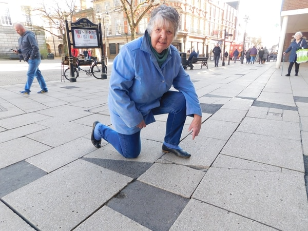 Stafford town centre paving 'more dangerous than A-boards'