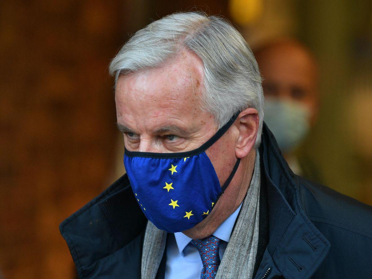 The EU's chief negotiator Michel Barnier arrives by Eurostar at St Pancras International