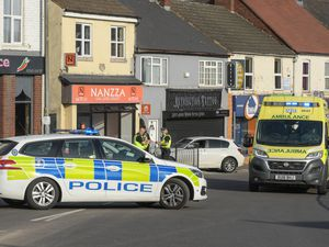 The aftermath of the crash in Brownhills High Street. Photo: SnapperSK