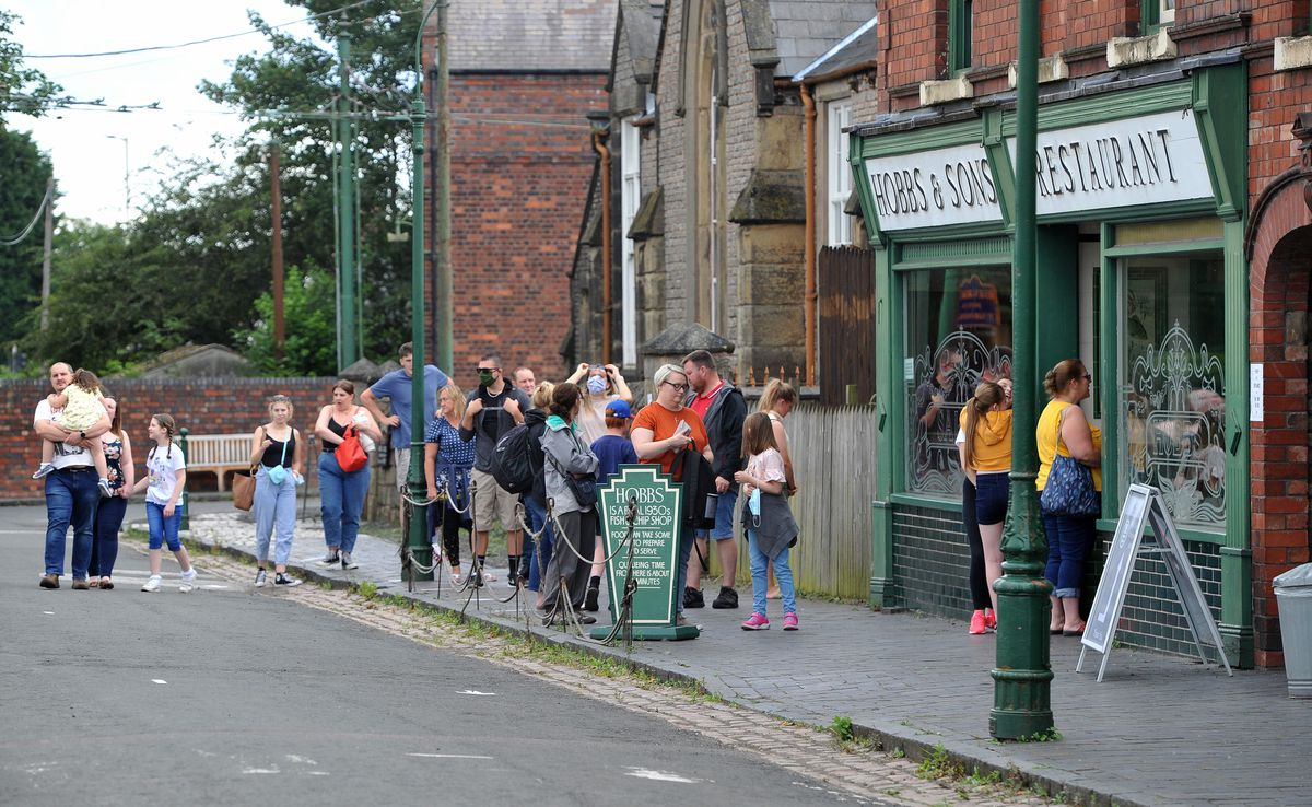 People queue for the fish and chip shop again