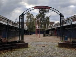 Emergency work at crumbling derelict Walsall shopping centre