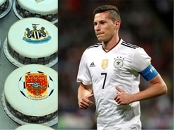 How does Julian Draxler's huge birthday cake compare in the pantheon of football sponge?