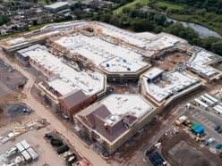 Eye in the sky shows £160 million Cannock shopping outlet taking shape
