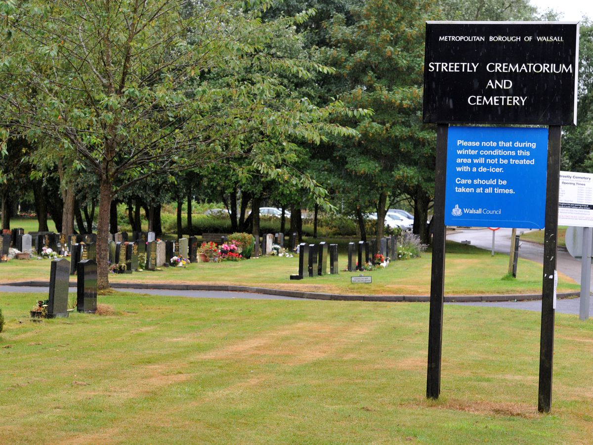 Around 60 people attended the funeral service at Streetly Crematorium and Cemetery against lockdown advice