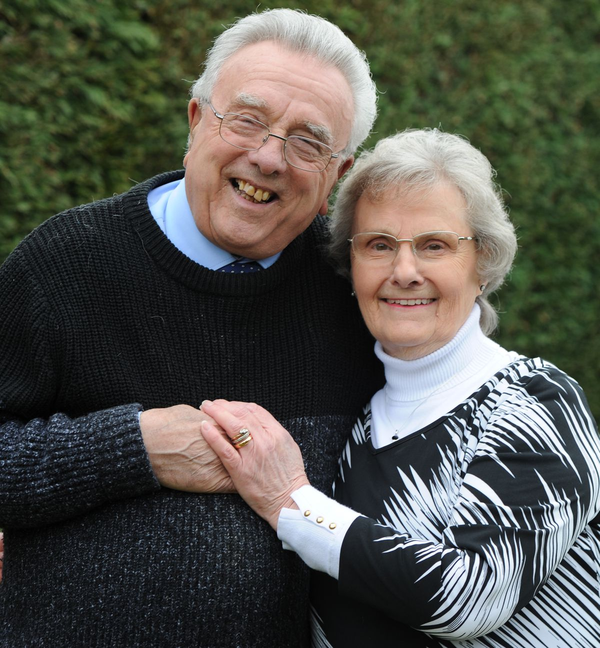 Celebrating their diamond wedding anniversary Don Price and his wife Sheila Price, of Bilbrook, Wolverhampton