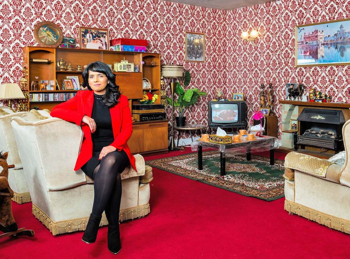 Dawinder decided to use the original items as a time capsule to re-create her family's living room