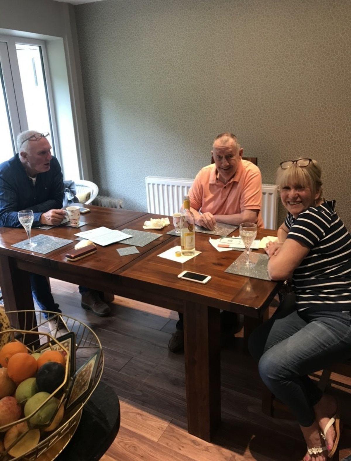 (L-R): Roger Jones, Stuart Chapman and Vicky Chapman