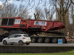 Lorry sheds 100-ton machinery in Stafford roundabout crash