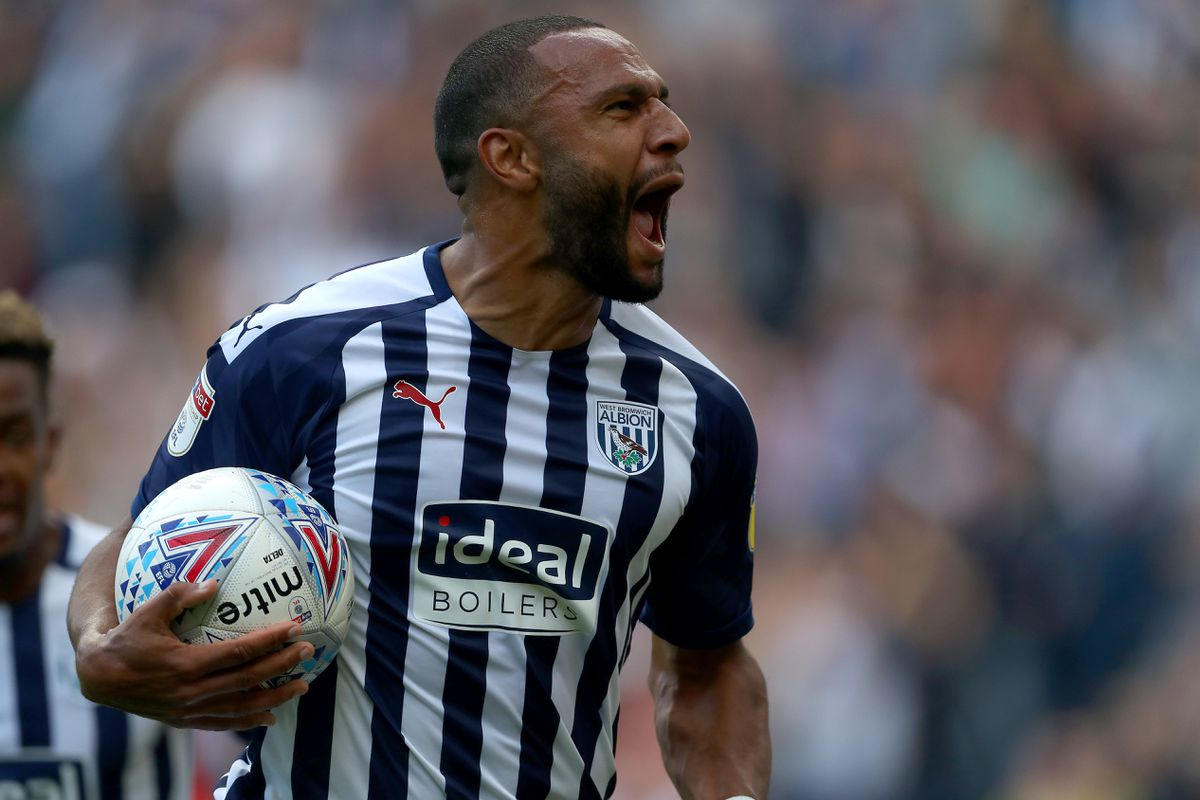 Matt Phillips of West Bromwich Albion celebrates after scoring a goal to make it 1-1. (AMA)