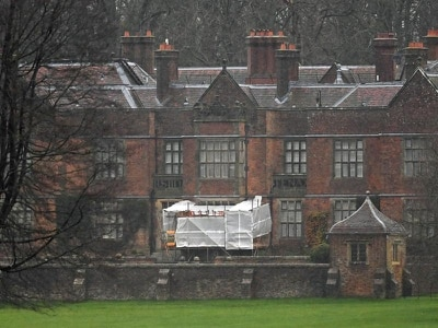 Repair work at Boris Johnson's Chequers country retreat