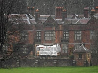 Repair work at Boris Johnson's Chequers country retreat