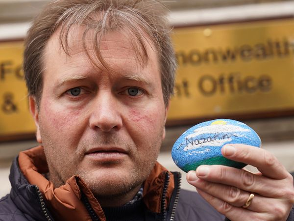 Richard Ratcliffe outside the Foreign Office