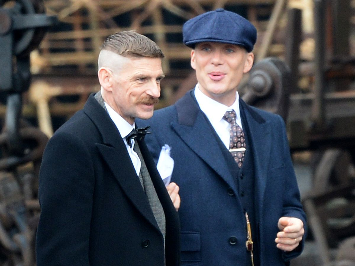 Peaky Blinders stars Paul Anderson, who plays Arthur Shelby, and Cillian Murphy, who plays Tommy Shelby