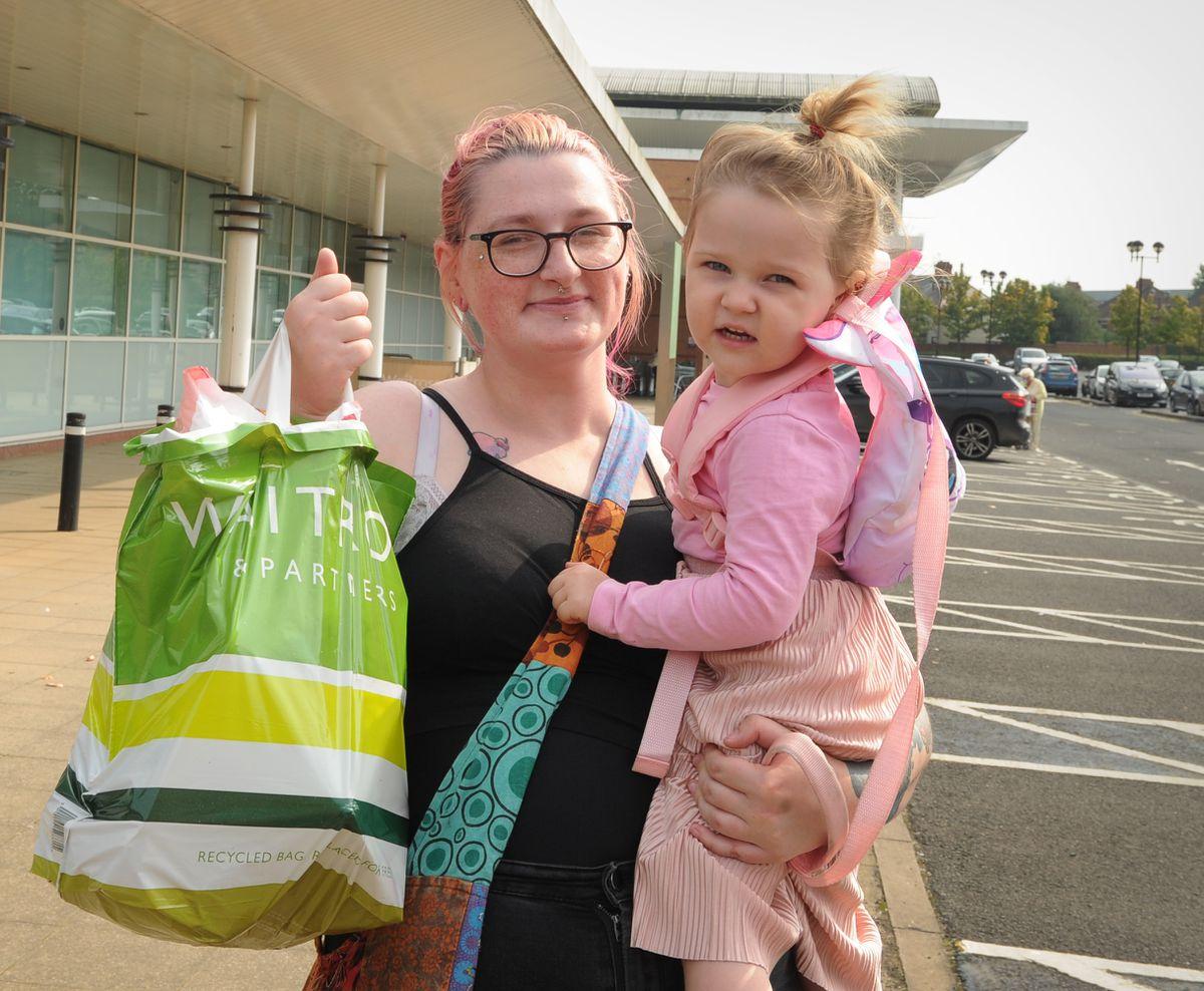 Deanna Cherrington and daughter Aurora Downing-Cherrington, two,