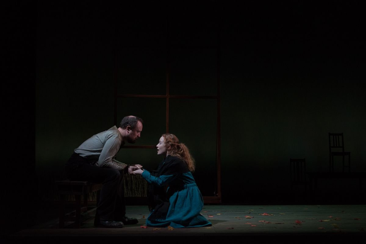 John Proctor and Victoria Yeates as Elizabeth Proctor. Pictures by: Alessia Chinazzo