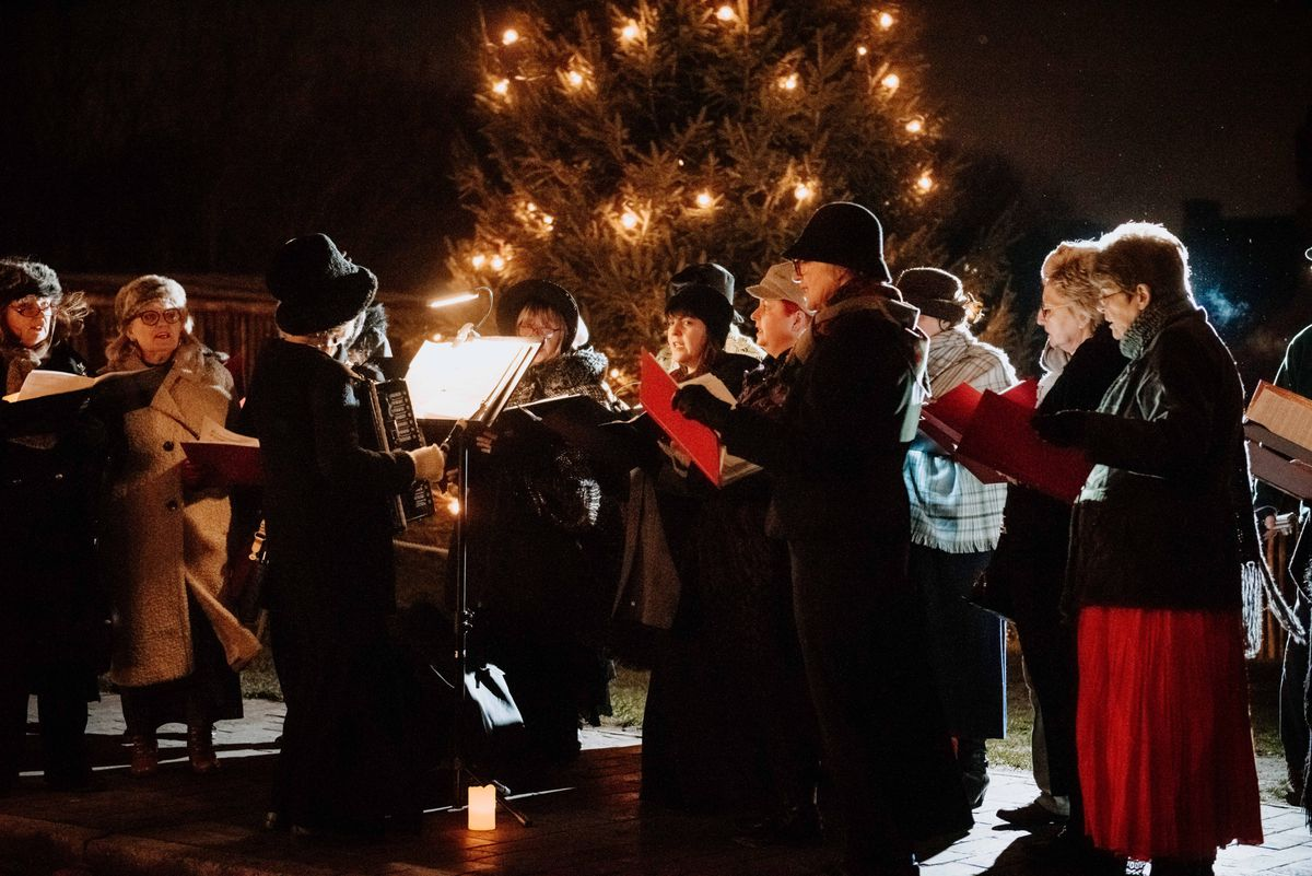 Carols sung by a choir at the Black Country Living Museum