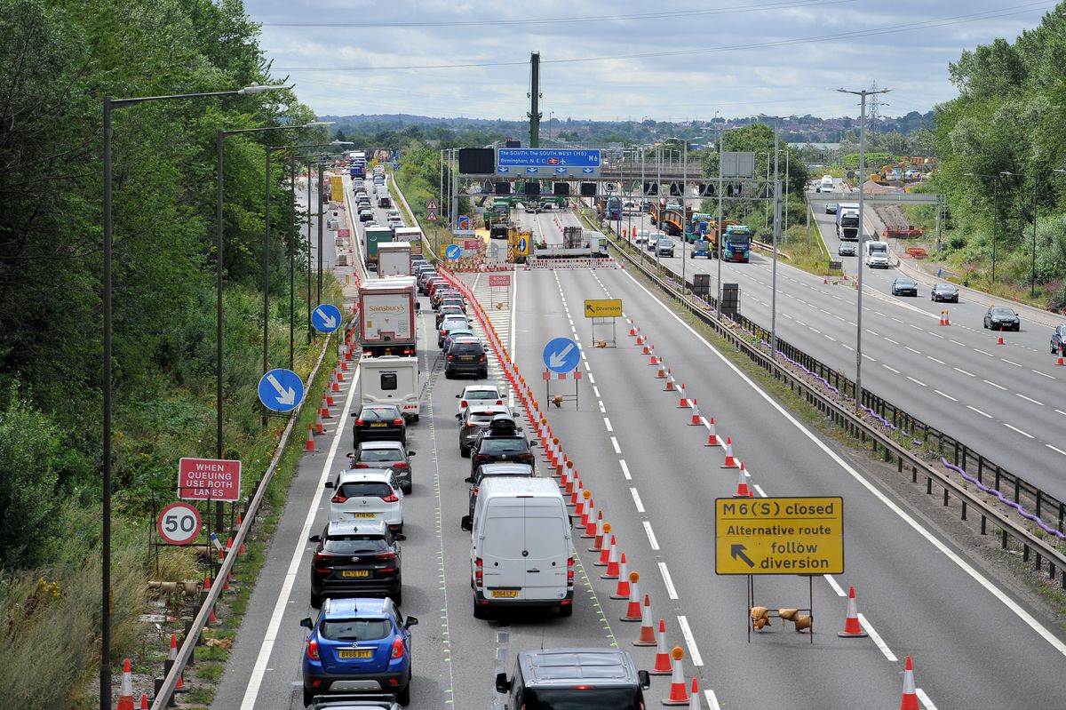 Traffic was diverted up and over the junction during the last closure