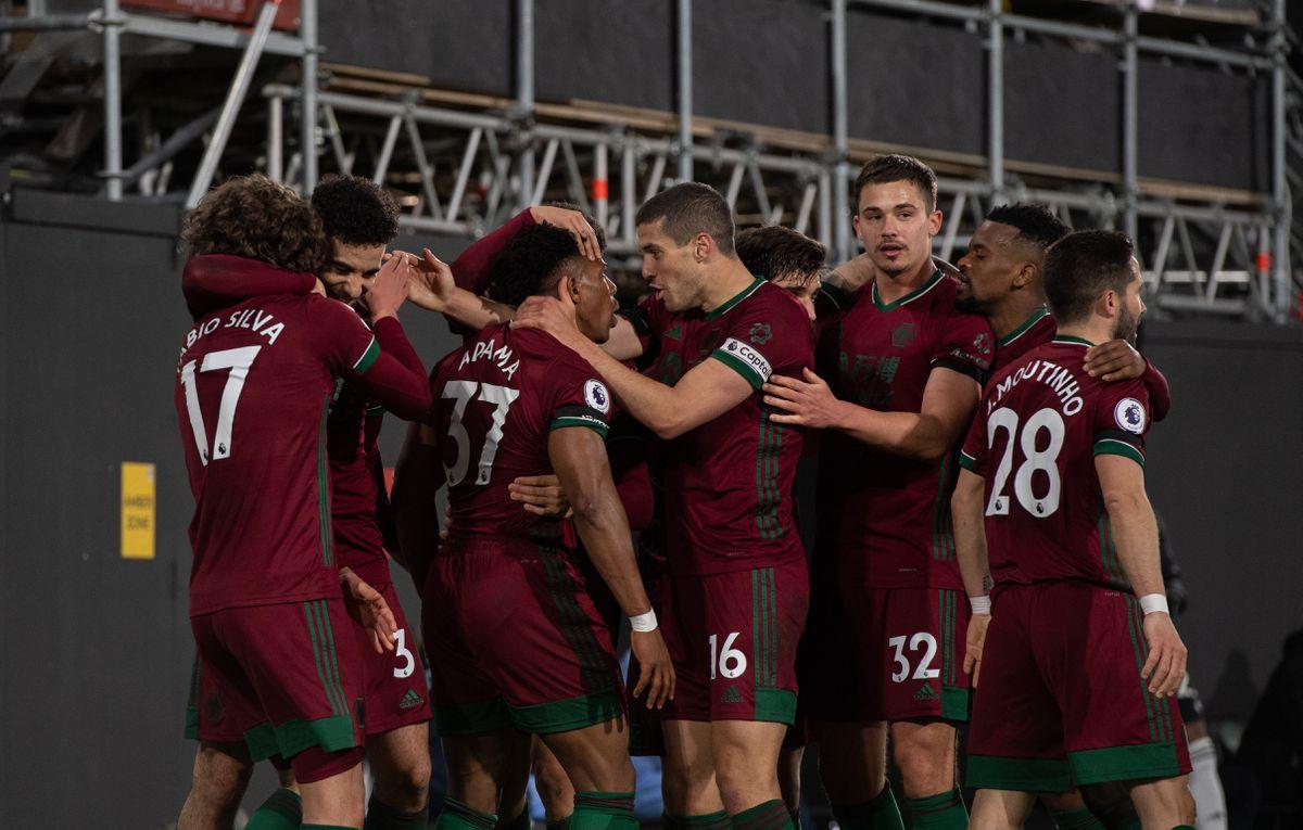 Adama Traore of Wolverhampton Wanderers celebrates after scoring a goal to make it 0-1. (AMA)