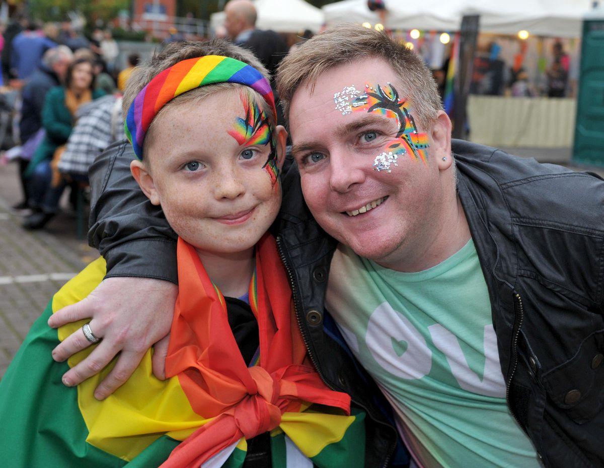 Kyle and Dean Tomkinson at Wolverhampton Pride 2019