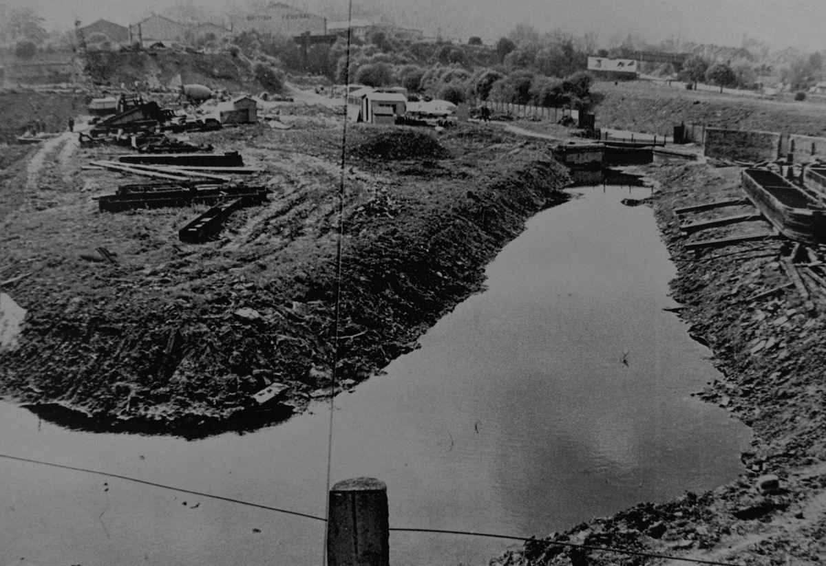 The canal area before it was developed